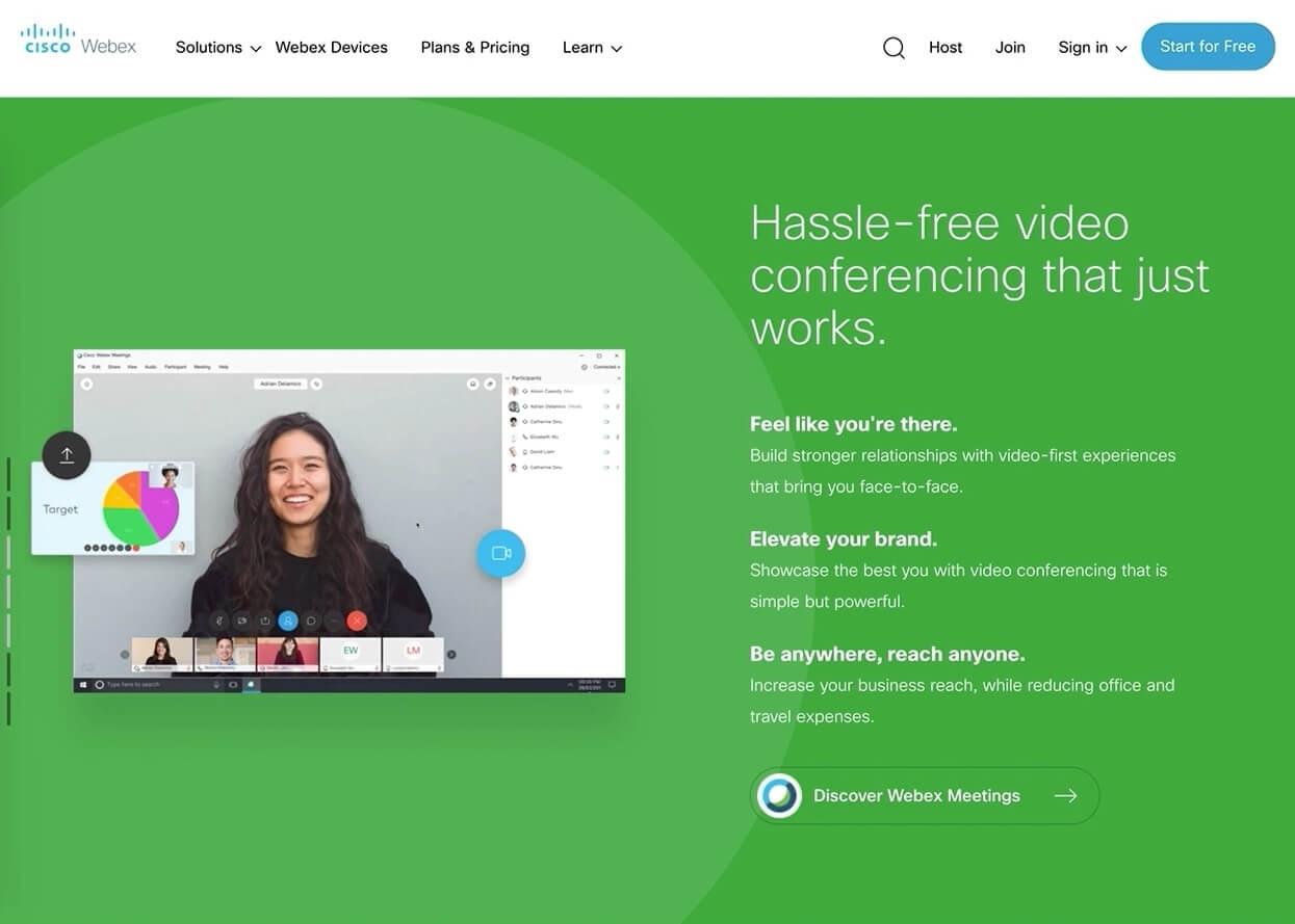 cisco webex homepage