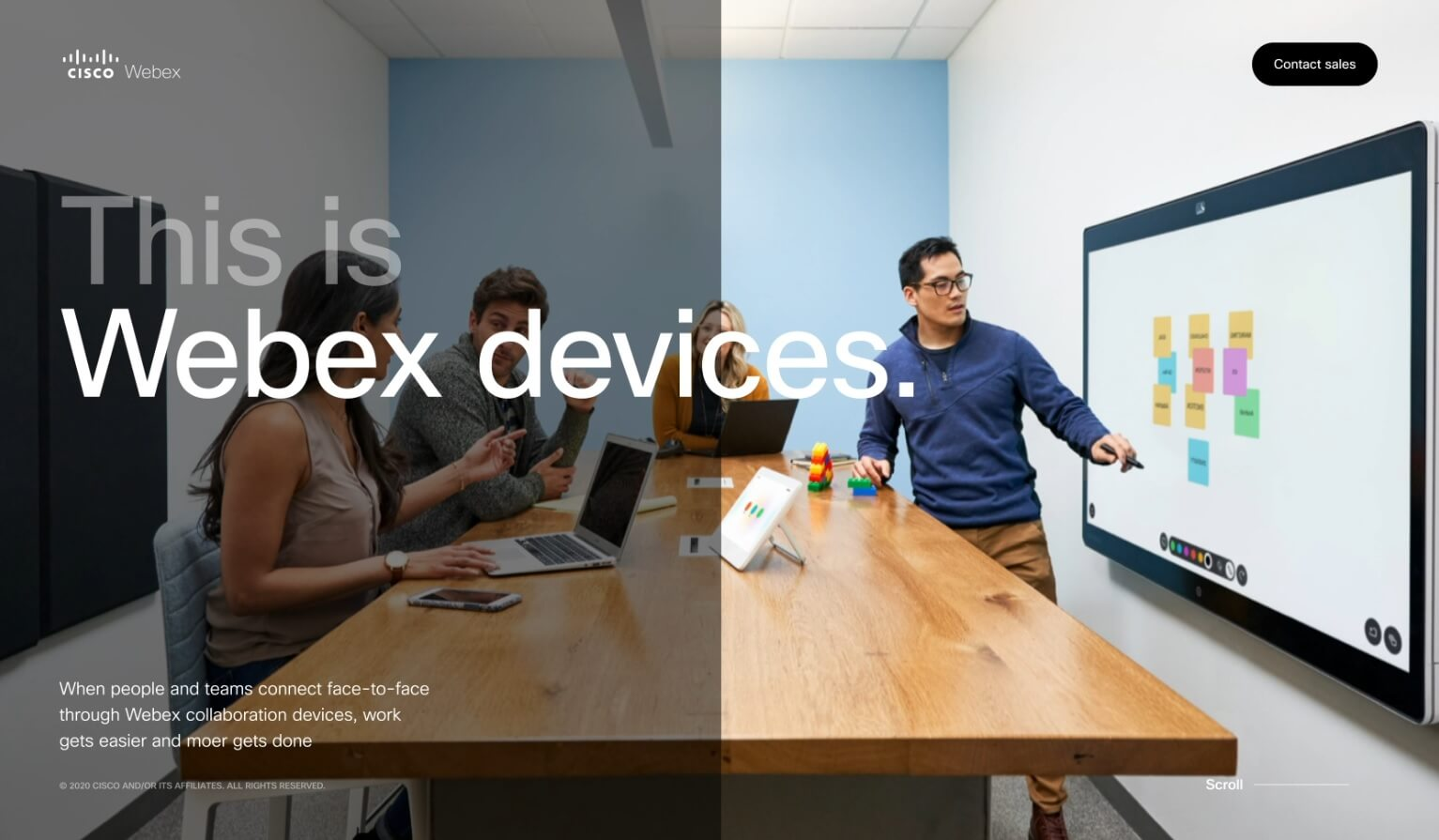 webex devices page